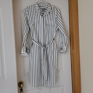 Asos striped button down midi shirt dress